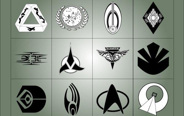 star trek symbols - vector download