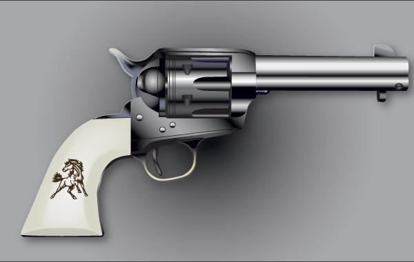Vetor de atirador Colt Six