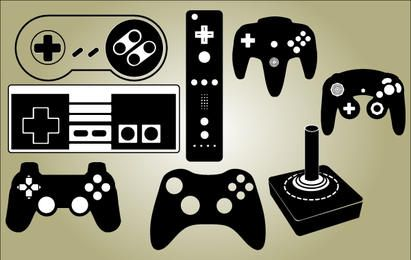 Game Controller Set Vector