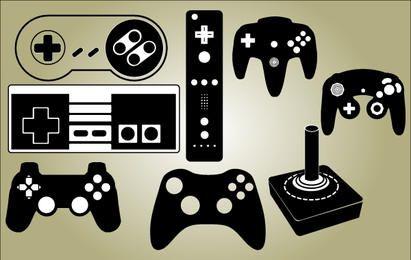 Vetor de conjunto de controlador de jogo
