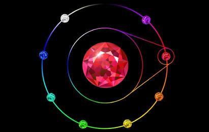 Vector de piedra de cristal