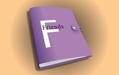 Vector de cuaderno 3d