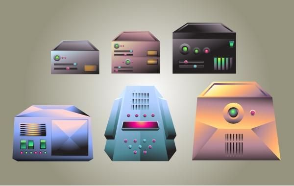 Realistic Server Vector Pack