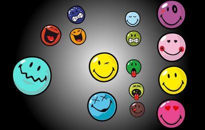 Vector conjunto de emoticonos