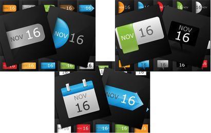 Pacote de ícones de calendário de datas