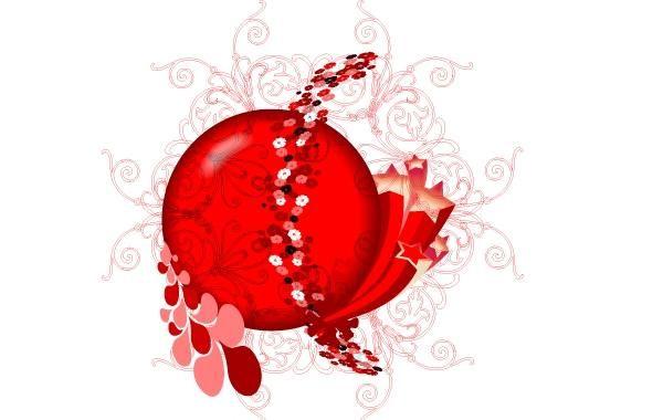 Red Floral Design Vector