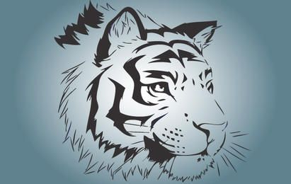 Bengal Tiger Face Vector