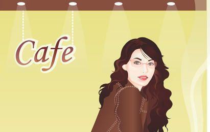 Girl In Cafebar