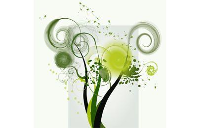 Vector de forma de remolino verde
