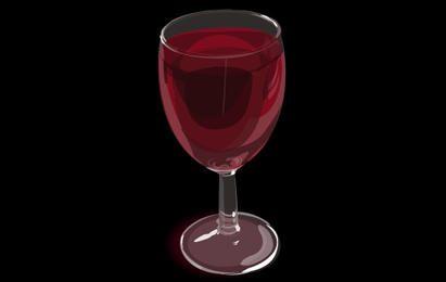 Vector realista copo de vinho