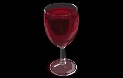 Vector Realistic Wine Glass