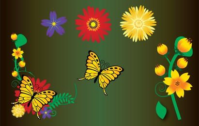 Flower Garden Element Vector