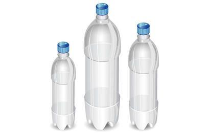 Botellas vectoriales de alto detalle