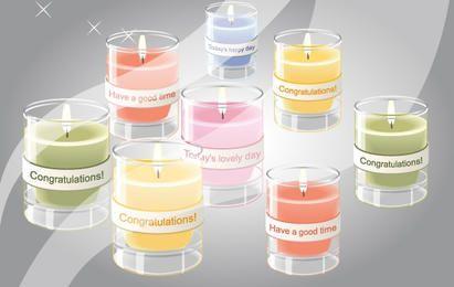 Paquete de velas del día de celebraciones