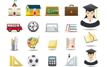 Pacote de ícones educativos