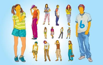 Adolescents Pack Silhouette