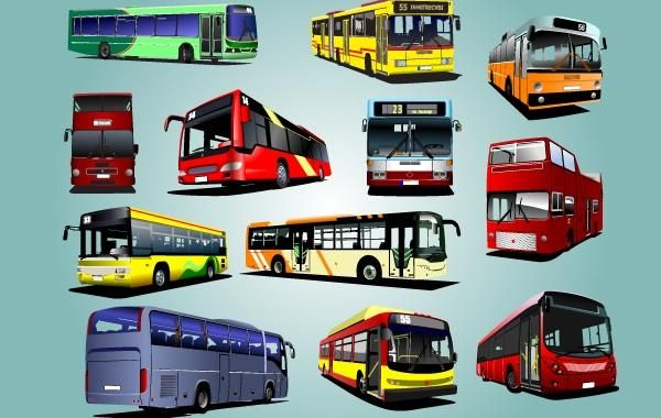 Photorealistic Bus Pack Vector