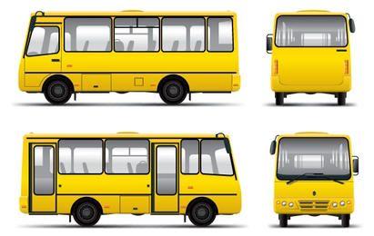 Corporate Mini Bus Vector
