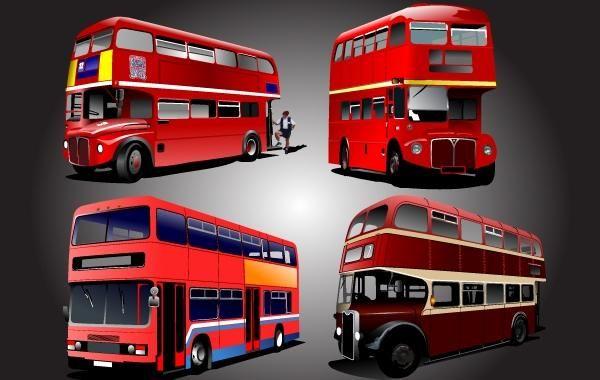 Dois pacotes de ônibus escolar armazenados