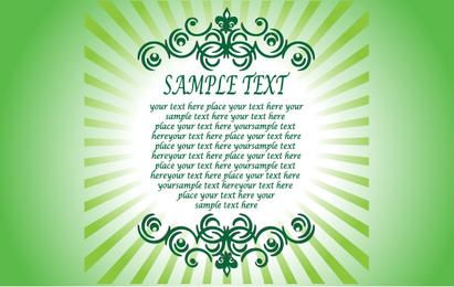 Textual Greeting Card Template