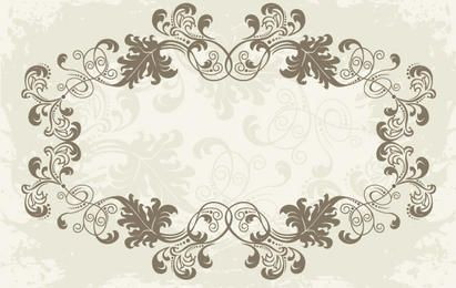 Floral Ornamental Rounded Frame