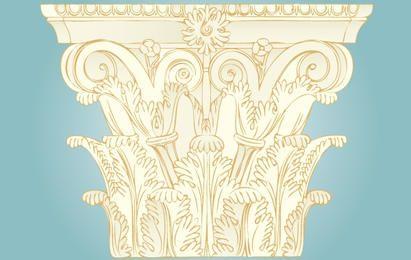 Decoração de coluna de ornamento vintage