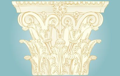 Vintage Ornament Säulenverzierung