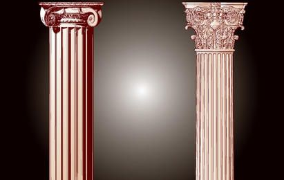 Vintage Building Pillar Vector