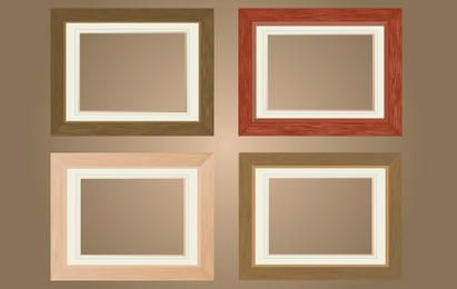 Flat Wooden Window Frame Pack