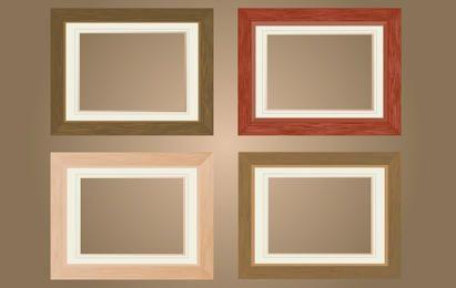 Paquete de marco de ventana de madera plana