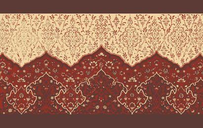 Forma de padrão de decoração de casa floral