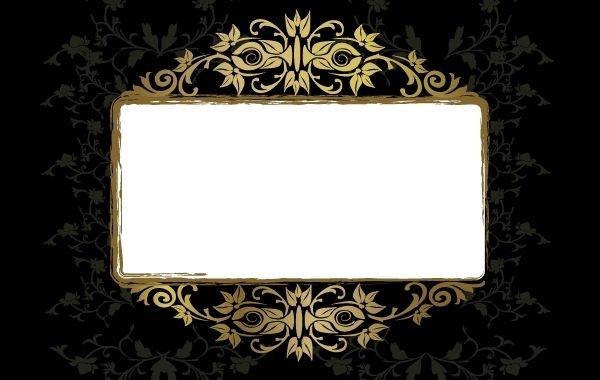 grungy vintage floral frame template