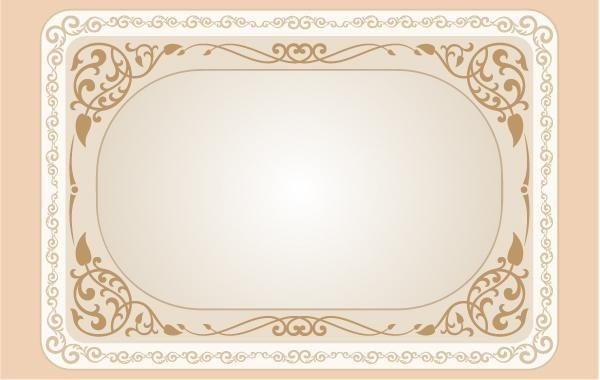 vintage curly floral frame template vector download
