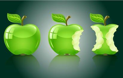 Paquete de Frutas de Manzana 3D