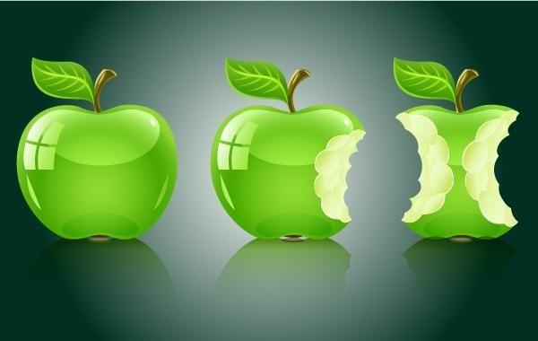 Pacote Maçã Fruta 3D