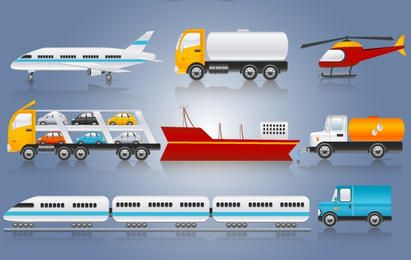 Paquete de transporte de tres maneras