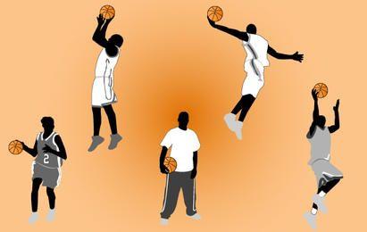 Paquete de jugador de baloncesto