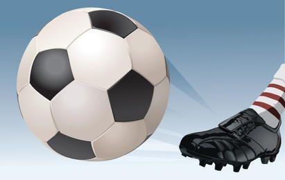 Chute de futebol