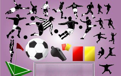 Jugadores de fútbol con cosas