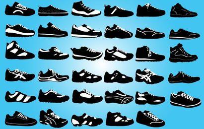 Black and White Sports Bota Pacote