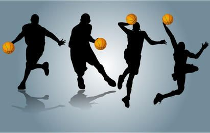 Players Performing with Basketball