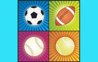 Quatro bolas de esporte
