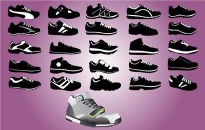 Pack de sapatos esportivos preto e branco