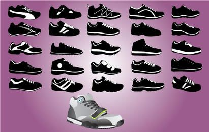 Sports Shoe Pack Black & White