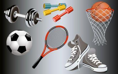 Gimnasio y equipamiento deportivo.