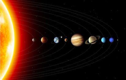 Beautiful Solar Planet Atmosphere