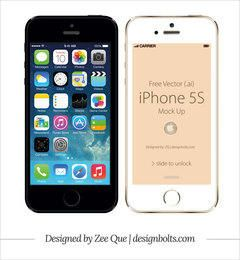 Apple iPhone 5S Front vector