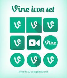 Pacote de ícones de videira verde