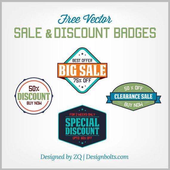 Vintage Sale & Discount Badges
