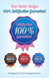 Plantilla de distintivo de garantía de satisfacción redondeada